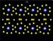 """Screenshot of """"Orbiting Yellow Canvas Stars"""""""