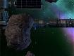 """Screenshot of """"Asteriods... Headed for Earth.     S.C.O.R.P.I.O.N. Mech #4: Astroblaster"""""""